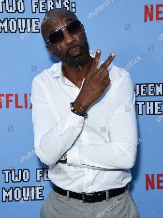 """J.B. Smoove arrives at the Los Angeles premiere of """"Between Two Ferns: The Movie"""" at ArcLight Hollywood on"""