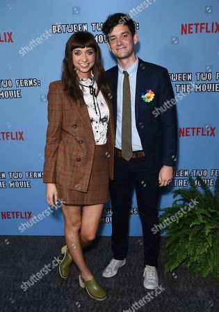 """Stock Photo of Lauren Lapkus, Mike Castle. Lauren Lapkus, left, and Mike Castle arrive at the Los Angeles premiere of """"Between Two Ferns: The Movie"""" at ArcLight Hollywood on"""