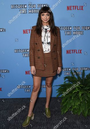 """Stock Image of Lauren Lapkus arrives at the Los Angeles premiere of """"Between Two Ferns: The Movie"""" at ArcLight Hollywood on"""