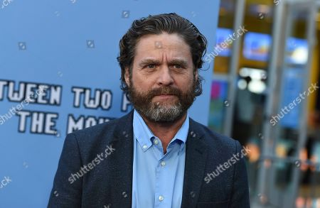 """Zach Galifianakis arrives at the Los Angeles premiere of """"Between Two Ferns: The Movie"""" at ArcLight Hollywood on"""