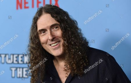 """Al Yankovic arrives at the Los Angeles premiere of """"Between Two Ferns: The Movie"""" at ArcLight Hollywood on"""