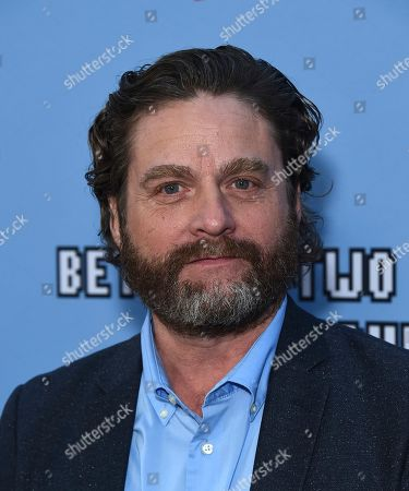 """Stock Picture of Zach Galifianakis arrives at the Los Angeles premiere of """"Between Two Ferns: The Movie"""" at ArcLight Hollywood on"""