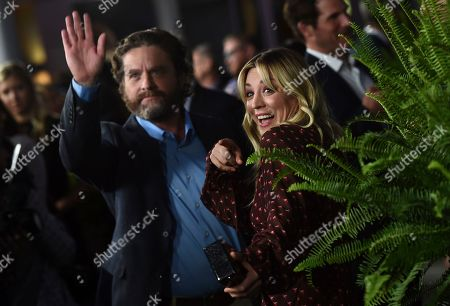 """Zach Galifianakis, Kaley Cuoco. Zach Galifianakis, left, and Kaley Cuoco arrive at the Los Angeles premiere of """"Between Two Ferns: The Movie"""" at ArcLight Hollywood on"""
