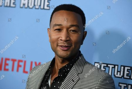 """Stock Image of John Legend arrives at the Los Angeles premiere of """"Between Two Ferns: The Movie"""" at ArcLight Hollywood on"""