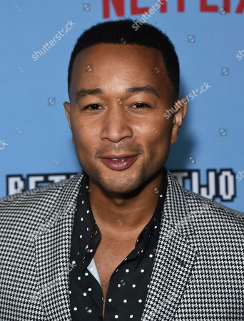 """John Legend arrives at the Los Angeles premiere of """"Between Two Ferns: The Movie"""" at ArcLight Hollywood on"""