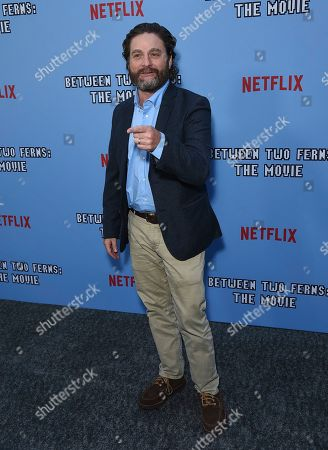 """Stock Photo of Zach Galifianakis arrives at the Los Angeles premiere of """"Between Two Ferns: The Movie"""" at ArcLight Hollywood on"""