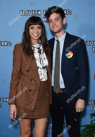 """Lauren Lapkus, Mike Castle. Lauren Lapkus, left, and Mike Castle arrive at the Los Angeles premiere of """"Between Two Ferns: The Movie"""" at ArcLight Hollywood on"""