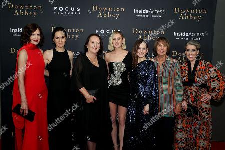 Elizabeth McGovern, Michelle Dockery, Liz Trubridge (Producer), Laura Carmichael, Sophie McShera, Penelope Wilton, Phyllis Logan