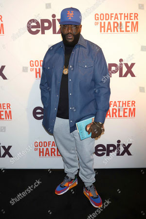 """Rick Ross attends a special screening of """"Godfather of Harlem"""" at the Apollo Theater, in New York"""