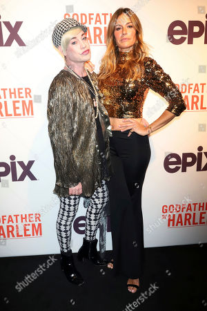 "Richie Rich, Kelly Killoren Bensimon. Richie Rich and Kelly Killoren Bensimon attend a special screening of ""Godfather of Harlem"" at the Apollo Theater, in New York"