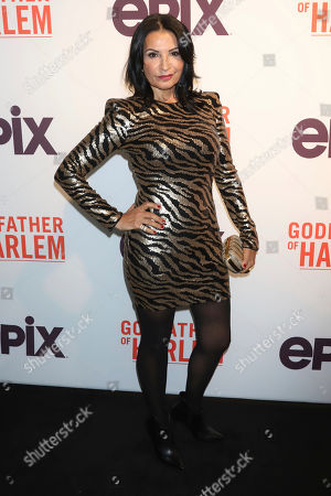 """Katherine Narducci attends a special screening of """"Godfather of Harlem"""" at the Apollo Theater, in New York"""