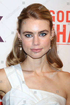 """Lucy Fry attends a special screening of """"Godfather of Harlem"""" at the Apollo Theater, in New York"""