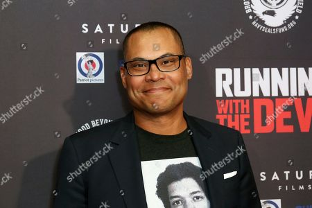 """Jason Cabell attends the LA Premiere of """"Running with the Devil,"""" at the Writers Guild Theater, in Beverly Hills, Calif"""