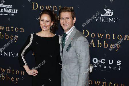 Stock Image of Jessica Blair Herman and Allen Leech