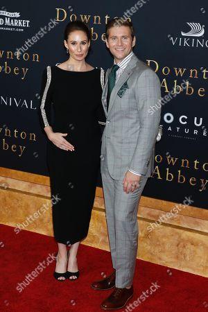 Stock Photo of Jessica Blair Herman and Allen Leech