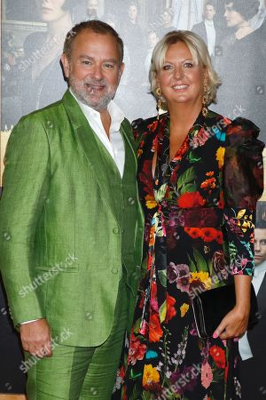 Stock Photo of Hugh Bonneville and Lulu Evans