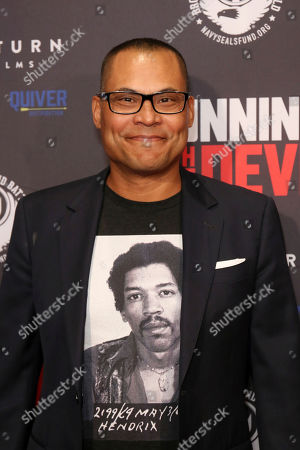 """Jason Cabell attends the LA Premiere of """"Running with the Devil"""" at the Writers Guild Theater, in Beverly Hills, Calif"""