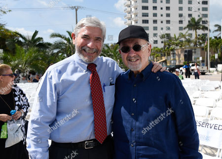 President and CEO of the Greater Miami Jewish Federation Jacob Solomon, left, and Andrew Hall.