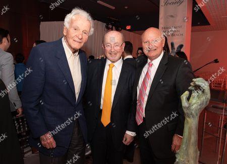 Norman Braman, from left, Andrew Hall and Ezra Katz