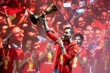 Editorial picture of Spanish Basketball Team homecoming celebration, Madrid, Spain - 16 Sep 2019