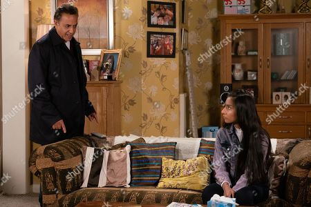 Ep 9890 Wednesday 2nd October 2019 - 2nd Ep Mary realises Asha Alahan, as played by Tanisha Gorey, stole Dev Alahan's, as played by Jimmi Harkishin, credit card. Asha makes out she used it to order make up but angry Dev tells her she's grounded.