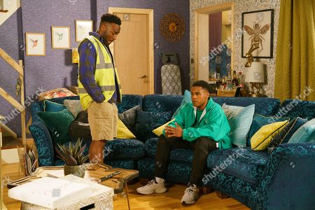 Ep 9881 Monday 23rd September 2019 - 1st Ep Michael Bailey, as played by Ryan Russell, reveals to James Bailey, as played by Nathan Graham, he overheard his conversation with Bethany last night. Reminding James that he loves him, Michael asks outright if he's gay.