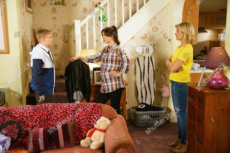 Ep 9884 Wednesday 25th September 2019 - 2nd Ep After visiting the headmaster, Shona Ramsey, as played by Julia Goulding, tells Leanne Tilsley, as played by Jane Danson, that Max Turner, as played by Harry McDermott, has been suspended. Leanne tells Shona the time has come for her to be honest with David.