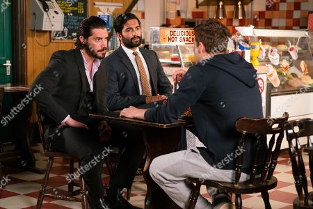 Ep 9883 Wednesday 25th September 2019 - 1st Ep Adam Barlow, as played by Sam Robertson, learns it was Gary who attacked Ryan Connor, as played by Ryan Prescott, and confides in Imran Habeeb, as played by Charlie de Melo. Adam and Imran confront Ryan but he flatly denies it, sticking to the story that he was mugged.