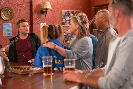 Ep 9875 Monday 16th September 2019 - 1st Ep Paul Foreman, as played by Peter Ash, is disgusted to hear about Bernie Winter's, as played by Jane Hazlegrove, pregnancy test scam and that she's back with her old boyfriend Kel, as played by Joseph Alessi, who Paul last saw when he was fourteen. Paul resolves to come up with a plan to get rid of them both.