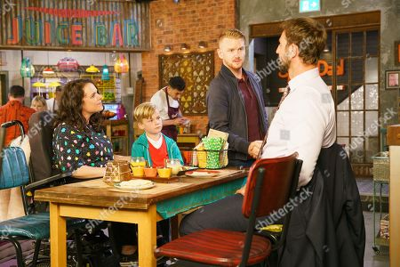 Ep 9880 Friday 20th September 2019 - 2nd Ep Gary Windass, as played by Mikey North, berates Derek Milligan, as played by Craige Els, for signing paperwork without him and menacingly orders him to finish with Izzy Armstrong, as played by Cherylee Houston.