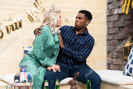Ep 9878 Wednesday 18th September 2019 - 2nd Ep James Bailey, as played by Nathan Graham, follows upset Bethany Platt, as played by Lucy Fallon, into the backyard and touched by his kindness, Bethany leans in for a kiss but is mortified when James resists. Bethany makes to leave so James blurts out that he's gay.