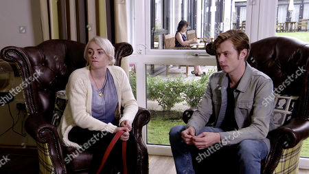 Ep 9875 Monday 16th September 2019 - 1st Ep Sinead Osbourne, as played by Katie McGlynn, arranges a visit to a hospice as she's considering her options. After being shown round, Daniel Osbourne, as played by Rob Mallard, admits that as her husband he wants to care for Sinead at home to the bitter end.