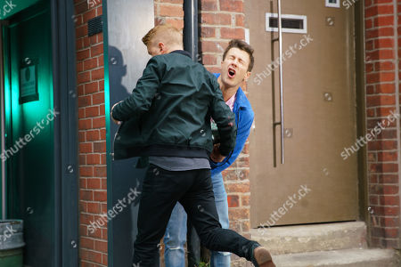 Ep 9881 Monday 23rd September 2019 - 1st Ep Ryan Connor, as played by Ryan Prescott, gets a DJ job in a hotel but Gary Windass, as played by Mikey North, is furious to learn that Ryan's cashing in while still owing him hundreds and he smashes up a cabinet in his shop with a metal poker. Gary corners Ryan in an alleyway behind the hotel and demands his cash. Ryan admits he lied to Robert to get out of working; it's an unpaid gig so he can't pay. His anger boiling over, Gary starts attacking Ryan.
