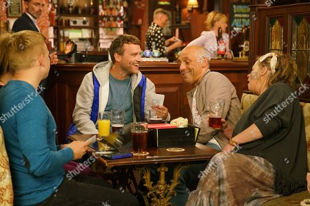 Ep 9886 Friday 27th September 2019 - 2nd Ep Billy Mayhew's, as played by Daniel Brocklebank, is puzzled to see Paul Fareman, as played by Peter Ash, in the Rovers playing happy families with Bernie Winter, as played by Jane Hazlegrove, Kel, as played by Joseph Alessi, Gemma Witner, as played by Dolly-Rose Campbell, and Chesney Brown, as played by Sam Aston. When Bernie hands around old photos, it dawns on Paul how young he really was in comparison to adult Kel.