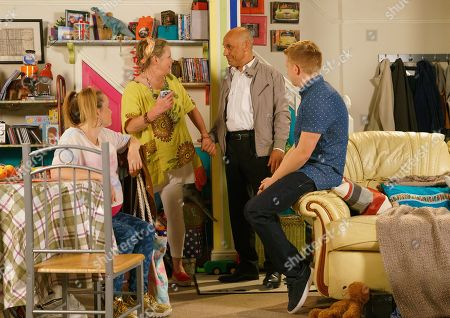 Ep 9874 Friday 13th September 2019 - 2nd Ep As Bernie Winter, as played by Jane Hazlegrove, is accused of shoplifting she's taken aback to discover the security guard is her old flame, Kel, as played by Joseph Alessi. After talking him round a bickering Gemma Winter, as played by Dolly-Rose Campbell, and Bernie return home to a knock at the door, Bernie's invited Kel for tea to say thanks.