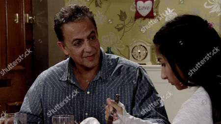 Stock Picture of Ep 9882 Monday 23rd September 2019 - 2nd Ep Dev Alahan's, as played by Jimmi Harkishin, confused when Asha Alahan, as played by Tanisha Gorey, isn't interested in auditioning for the school musical, saying she has no desire to get up on stage.