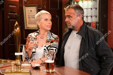 Ep 9890 Wednesday 2nd October 2019 - 2nd Ep Debbie, as played by Sue Devaney, breaks the news to Kevin Webster, as played by Michael Le Vell, that their Auntie Vi has died and has left her £200k. Kevin's gobsmacked when Debbie says she wants him to have the money.