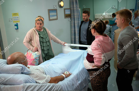 Ep 9889 Wednesday 2nd October 2019 - 1st Ep With Kel, as played by Joseph Alessi, claiming he couldn't grass Paul Foreman, as played by Peter Ash, up as he's Bernie's son, Bernie Winter, as played by Jayne Hazlegrove, asserts she'll never forgive him and rounds on Paul demanding to know what their fight was about.