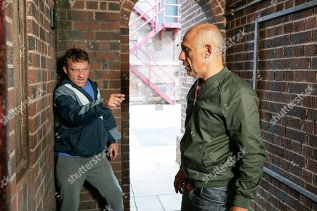 Ep 9887 Monday 30th September 2019 - 1st Ep A drunk Paul Foreman, as played by Peter Ash, confronts Kel, as played by Joseph Alessi, in the ginnel and tries to kiss him. Kel pushes him away and Paul realises with horror that Kel only fancied him as a young boy. Seeing red, Paul punches Kel, knocking him unconscious.