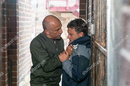 Ep 9887 Monday 30th September 2019 - 1st Ep A drunk Paul Foreman, as played by Peter Ash, confronts Kel, as played by Joseph Alessi, in the ginnel and tries to kiss him. Kel pushes him away and Paul realises with horror that Kel only fancied him as a young boys. Seeing red, Paul punches Kel, knocking him unconscious.
