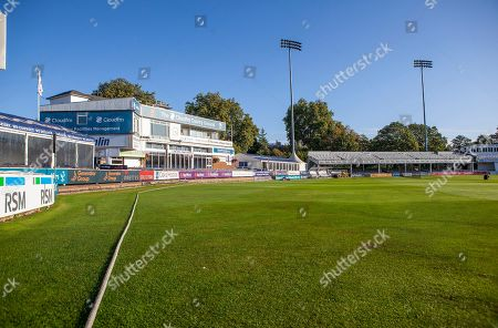 General view of the pavilion and Tom Pearce stand prior to Essex CCC vs Surrey CCC, Specsavers County Championship Division 1 Cricket at The Cloudfm County Ground on 17th September 2019
