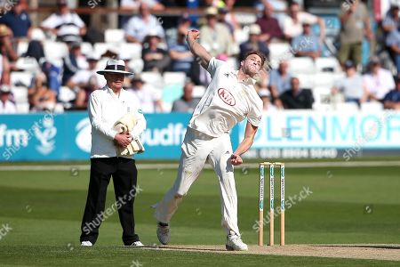 Morne Morkel in bowling action for Surrey during Essex CCC vs Surrey CCC, Specsavers County Championship Division 1 Cricket at The Cloudfm County Ground on 17th September 2019