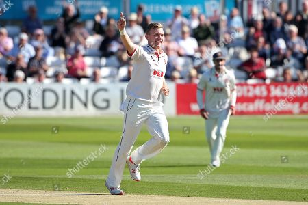 Sam Cook of Essex celebrates taking the wicket of Ben Foakes during Essex CCC vs Surrey CCC, Specsavers County Championship Division 1 Cricket at The Cloudfm County Ground on 17th September 2019
