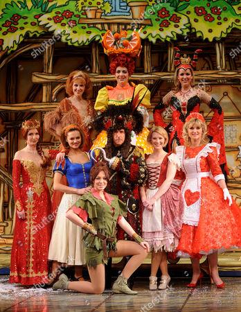 Back - Anita Dobson, Karen Dunbar, Claire Sweeney,  Middle - Jane Asher, Kara Tointon, Henry Winkler, Joanna Page, Anthea Turner and Natasha Hamilton (front)