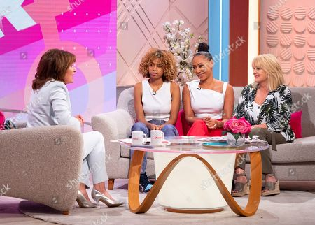 Stock Photo of Lorraine Kelly, Phoenix Chi Gulzar, Melanie Brown and Andrea Brown