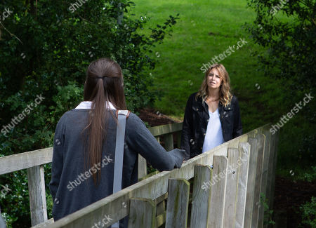 Ep 8595 Tuesday 17th September 2019 Chicken-poxed and anxious, Charity Dingle, as played by Emma Atkins, worries about Sarah Sugden, as played by Katie Hill, gets and reminds her she's grounded but Sarah's outlook leaves Charity concerned.