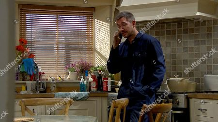 Ep 8609 Thursday 3rd October 2019 - 2nd Ep  At the hotel, as they lie beside one another, Nate gets a pointed call from Pete Barton, as played by Anthony Quinlan, - he knows about the affair with Moira Dingle, but will Pete tell Cain?