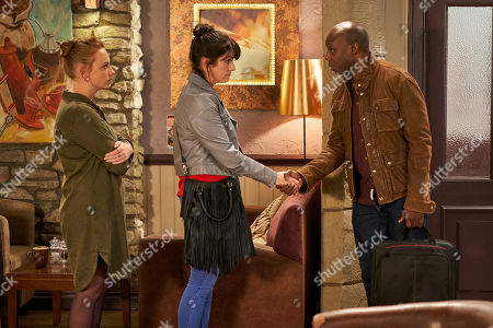 Ep 8609 Wednesday 2nd October 2019  Soon Kerry Wyatt, as played by Laura Norton, squirms as she meets with the journalist, as played by Chris Jack, and wracked with guilt as she's interviewed. With Amy Wyatt, as played by Natalie-Ann Jamieson.