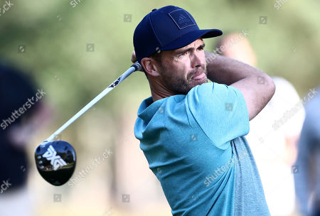 England Cricketer James Anderson during his round.