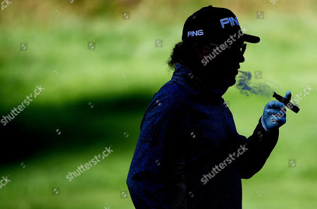 Miguel Angel Jimenez of Spain during his round.